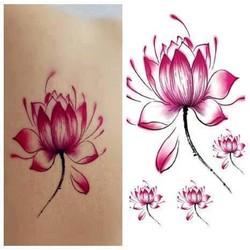 Hình Xăm Dán Tattoo Hoa Sen
