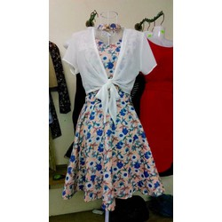Đầm hoa cut eo