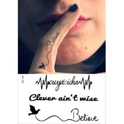 Hình Xăm Dán Tattoo Believe