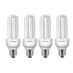 Bộ 4 Bóng đèn Compact 3U Essential 18W E27 Philips