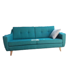 Ghế sofa bọc vải xanh