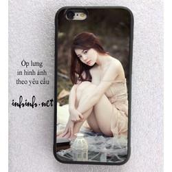 Ốp lưng iPhone 6-6s in hình ảnh theo yêu cầu _ Ốp silicon đen