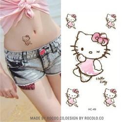 Hình Xăm Dán Tattoo Kitty