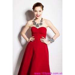 Đầm xòe cúp ngực đỏ kiêu sa quyến rũ eDCC62