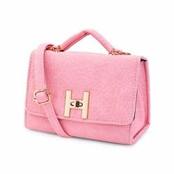 Túi xách nữ khoá chữ H 3 màu đen hồng kem 2366