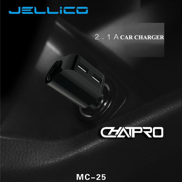Cóc Sạc Xe Hơi 2 Cổng USB Và 1 Cổng Nối Jellico MC25 5