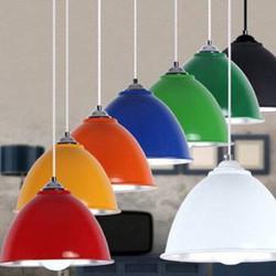 Chao đèn thả trang trí nhiều màu - combo 3 chao