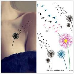 Hình Xăm Dán Tattoo Bồ Công Anh