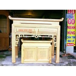 bàn thờ gỗ sối mẫu hiện đại . M 1.54