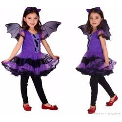 Váy người Dơi - Trang Phục Hóa Trang  Halloween Purple Bat Girl