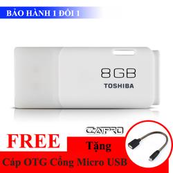 Khuyến Mãi - USB Toshiba 8GB 2.0 U202 Chính Hãng + Tặng Cáp OTG