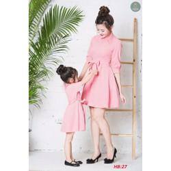 Đầm xòe tay lỡ Mẹ và Bé  cao cấp