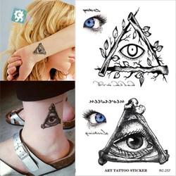 Hình Xăm Dán Tattoo Mắt