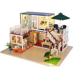 13842- Nhà ở Container +Mica+ UHU 35ml+ Nhạc+ Xe hơi