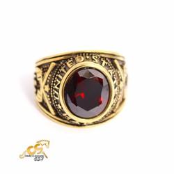 Nhẫn mỹ nam đá đỏ