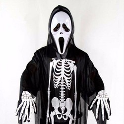 Bộ hóa trang Halloween hình khung xương cá tính cho các bạn nữ