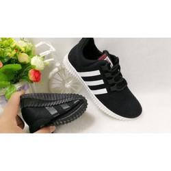 Giày thời trang nam đen ba vạch trắng