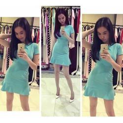 Đầm body xòe ngắn tay Ngọc Trinh