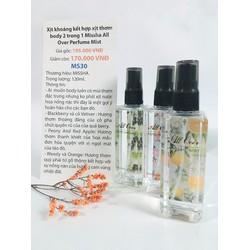 Xịt khoáng kết hợp xịt thơm body 2 in 1 Missha All Over Perfume Mist