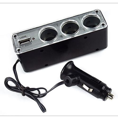 Bộ chia lổ mồi thuốc ôtô ra 3 cổng và 1 cổng USB sạc - 10464555 , 7359422 , 15_7359422 , 75000 , Bo-chia-lo-moi-thuoc-oto-ra-3-cong-va-1-cong-USB-sac-15_7359422 , sendo.vn , Bộ chia lổ mồi thuốc ôtô ra 3 cổng và 1 cổng USB sạc