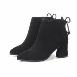 giày da boots nữ cổ cao