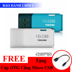 Khuyến Mãi - USB Toshiba 16GB 2.0 U202 Chính Hãng + Tặng Cáp OTG Xịn