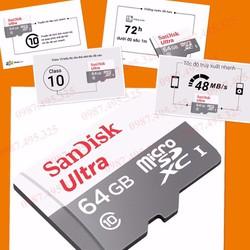 Thẻ nhớ 64GB SanDisk chính hãng bảo hành 5 năm