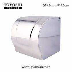 Hộp để giấy vệ sinh cao cấp TOYOSHI sus 304 bóng gương