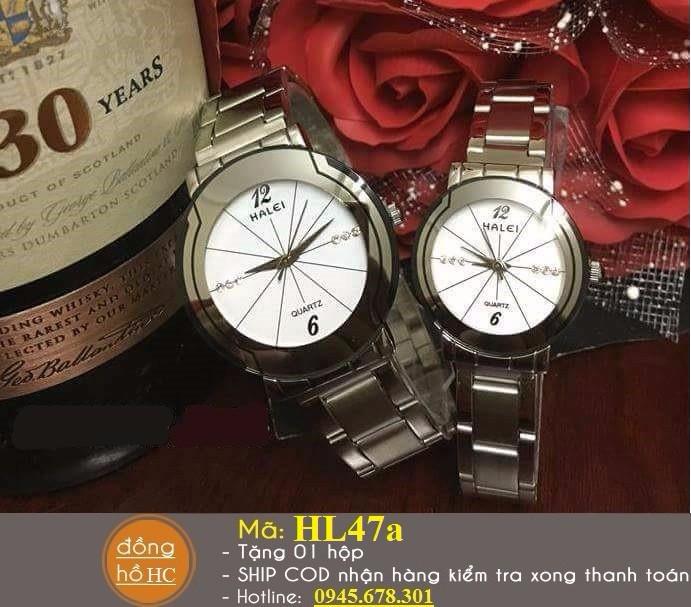 Đồng hồ đôi chính hãng HALEI chống nước 1
