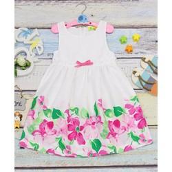 Áo đầm bé gái hình họa tiết hoa xinh xắn