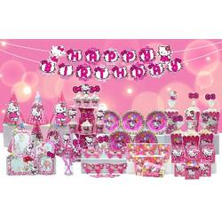 set sinh nhật kitty hồng