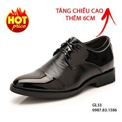 Giày Da Tăng Chiều Cao Cho Nam - Cao Thêm 6cm