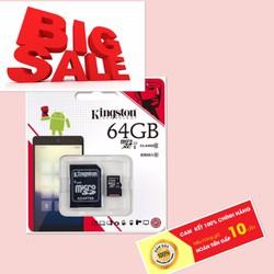 Thẻ nhớ 64GB KINGSTON chính hãng bảo hành 5 năm