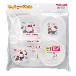 Bộ khay, bát, cốc thìa ăn dặm Hello Kitty Nhật Bản