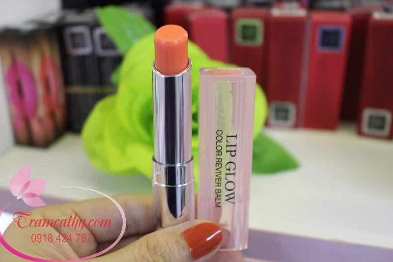Son dưỡng môi hàng hiệu Dior màu cam 04 1