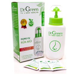 Bình rửa mũi Dr.Green tặng kèm 10 gói muối lô hội - DrGreen2268