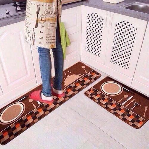 [Trợ phí ship] bộ 2 thảm trải sàn bếp, phòng khách kt 1m4x40cm và 60x40cm