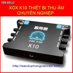 THIẾT BỊ CHUYÊN HÁT KARAOKE VÀ THU ÂM XOX K10