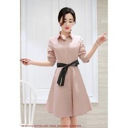 Đầm Xòe Cột Nơ Eo Tay Lỡ