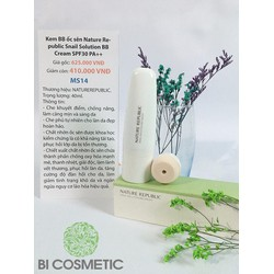 Kem BB ốc sên Nature Republic Snail Solution BB Cream SPF30 PA++