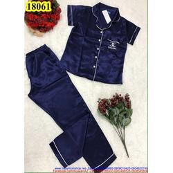 Đồ mặc nhà áo ngắn tay phối quần dài logo CN sành điệu NN516