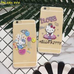 Ốp lưng silicon Iphoen 6p Hello Kitty