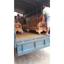 Bộ bàn ghế giả cổ tần thủy hoàng gỗ xà cừ tay 12