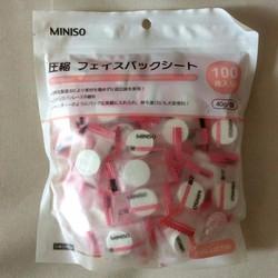 100 Viên nén mặt nạ giấy Miniso