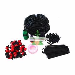 Kit tưới hoa, rau 20 đầu tưới 8 tia, 15m dây, đủ phụ kiện