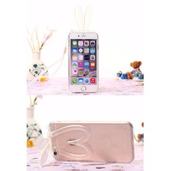 Ốp lưng iPhone 7 plus tai thỏ đáng yêu kiêm giá đỡ điện thoại