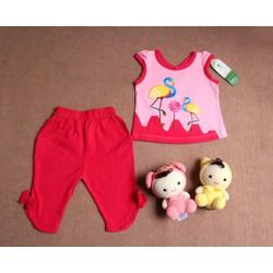 quần áo trẻ em - Bộ lửng bé gái hình con cò