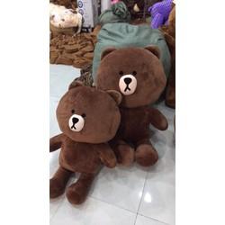 Gấu brown bông khổ vải m8 lông mềm mại