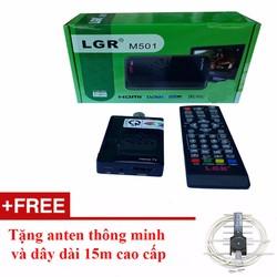 Đầu thu kỹ thuật số DVB-T2 LGR Đen+ Anten thông minh dây 15m