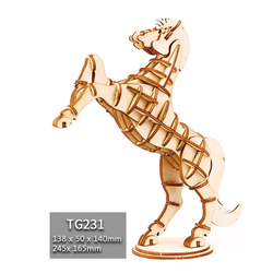 Đồ chơi lắp ráp gỗ 3D Mô hình Con Ngựa